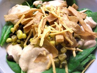 Copy-cat Newman's Own Southwest Salad Dressing, veganized