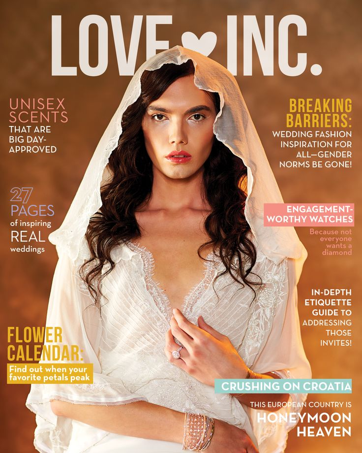 Love Inc. Wedding Magazine Shatters Gender Norms With Striking Photo Shoot