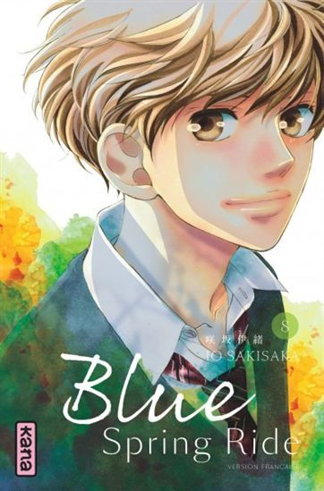 Blue spring ride, v.8 / Io SAKISAKA - Shôjo sentimental en douze volumes narrant le travail sur elle-même qu'effectue une timide lycéenne de seize ans, qui aspire à se faire accepter par la gent féminine qui l'a rejetée pendant ses années de collège. Après avoir été tentée de modifier sa personnalité pour atteindre son but, elle revient peu à peu sur sa décision au contact de Kô Tanaka, son premier amour, auquel elle n'a jamais osé déclarer sa flamme.