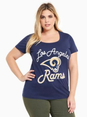 NFL Los Angeles Rams Football Scoop Tee in Black