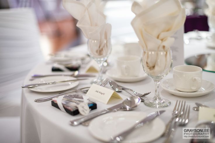 Fine wedding reception details at the Fours Seasons Hotel in Toronto, Canada.