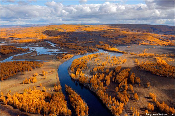 Autumn. Chita river, Russia