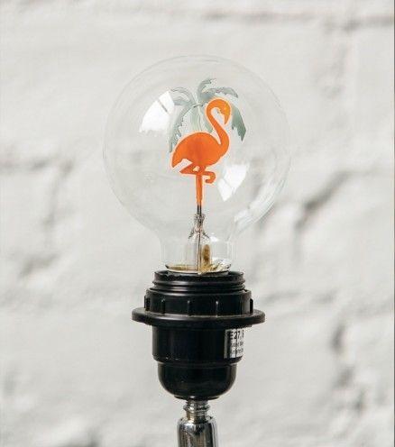 Achetez l'ampoule flamant rose. La touche d'exotisme qui manquait à votre interieur