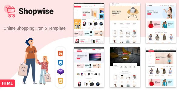 Shopwise Ecommerce Bootstrap 4 Html Template Stylelib In 2020 Woocommerce Wordpress Themes Woocommerce Themes Woo Commerce Wordpress