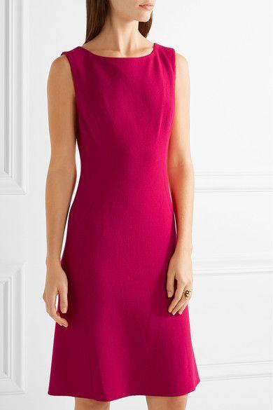 Oscar de la Renta - Pleated Stretch Wool-blend Dress - Pink - US