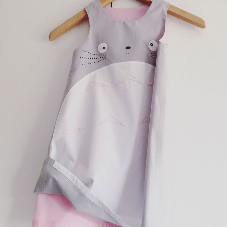 Totoro dress, they love it! This one is for a 6th birthday surprise!