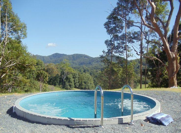 Round Plunge Pool Swimming Pools Backyard