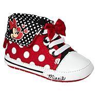 Disney Baby Girl's Casual Minnie Hi-Top - Red at Kmart.com
