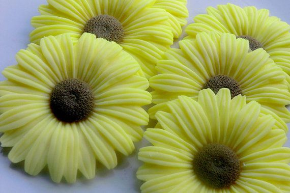 10 Sunflower Soap  wedding favors baby shower by BubbleCitySoap, $15.00