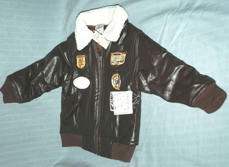 Brown WW2 WWII Replica Faux Leather 18 Month Kids Bomber Jacket Coat (World War) #RivalMadness