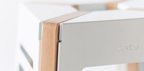 Sgabello Artu in metallo e legno www. Milano Design Week .org