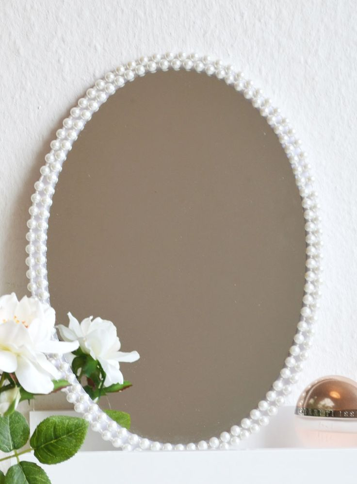 Perlen oder Seil – Rahmen für alten Spiegel basteln!