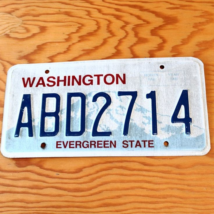 Washington Evergreen State License Plate ABD2714 State