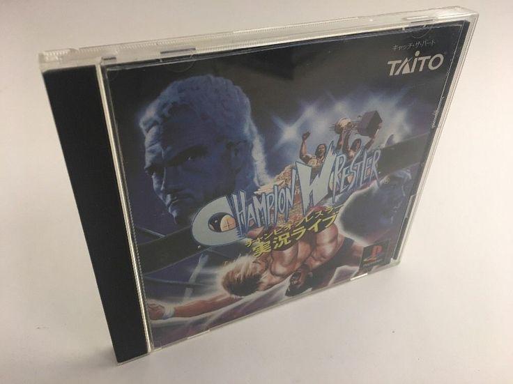 Champion Wrestler: Jikkyou Live Sony Playstation 1995, Import NTSC-J, Tested  | eBay