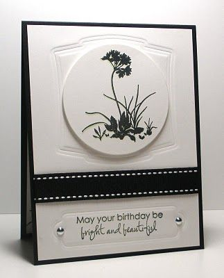 Think Outside the Box: Another Card for the Stamp TV Guest Designer.  Black & White