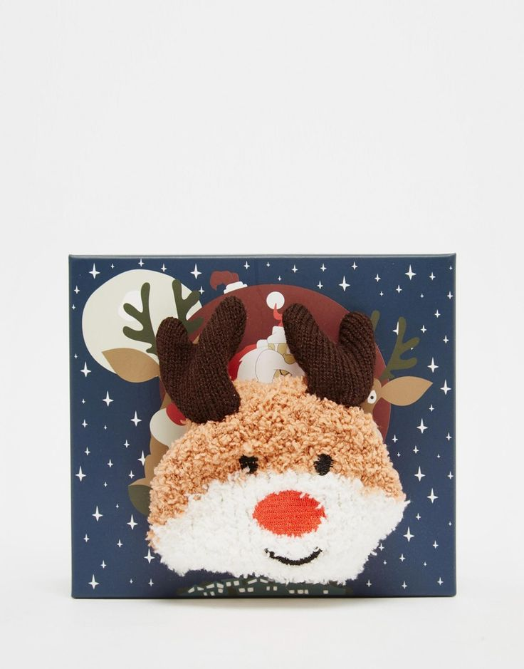 ASOS+Christmas+Reindeer+Cosy+Sock+In+Sleigh+Box+Gift+Set