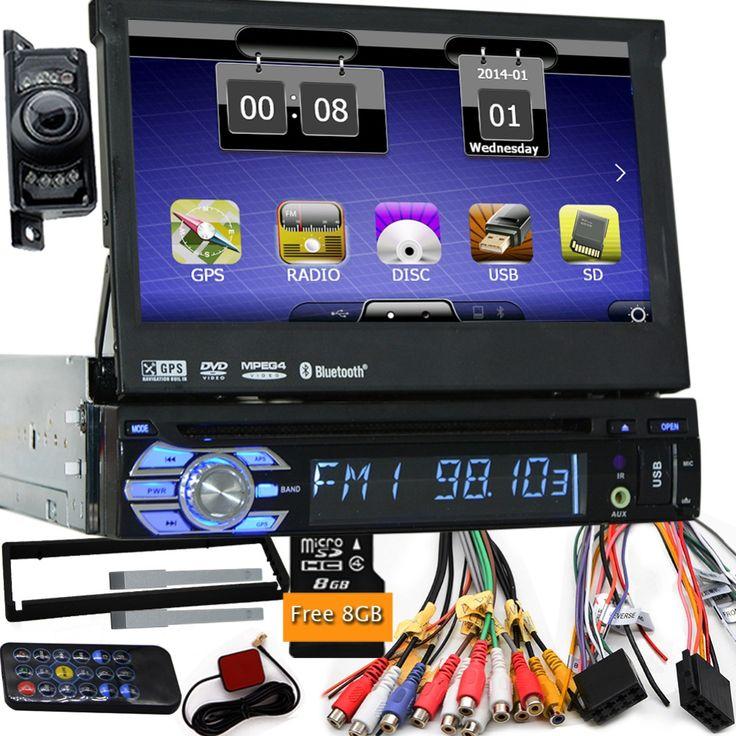 "(169.98$)  Buy here - http://ai2un.worlditems.win/all/product.php?id=32705708139 - ""7"""" Universal 1 Din Car Audio DVD Player+Radio+GPS Navigation+Autoradio+Stereo+Bluetooth+PC+DVD Automotivo+SD USB RDS Aux+camera"""