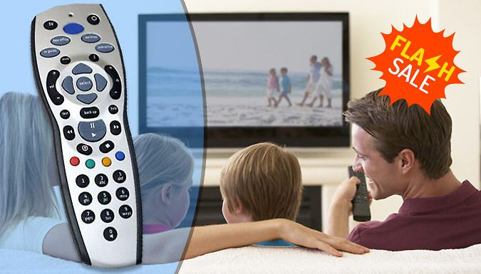 Buy Sky+ HD Compatible Remote Control - Flash Sale! UK deal for just: £4.99 Remote disappeared again? Replace it with theSky+ HD Compatible Remote      Pause, rewind and fast-forward TV      Compatible with Sky+ HD boxes      Works with the latest TV brands and models      Requires 2 x AA batteries      Ideal as a replacement or kept as a spare or second unit      Save 83% with the Sky+ HD Compatible Remote for 4.99 pound instead of 29.99 pound     BUY NOW for just GBP4.99