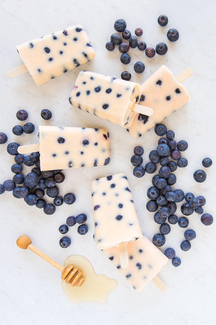 Greek yogurt is the perfect ingredient for creamy DIY Blueberry Peach Popsicles! ☀️ #FunFoodSun