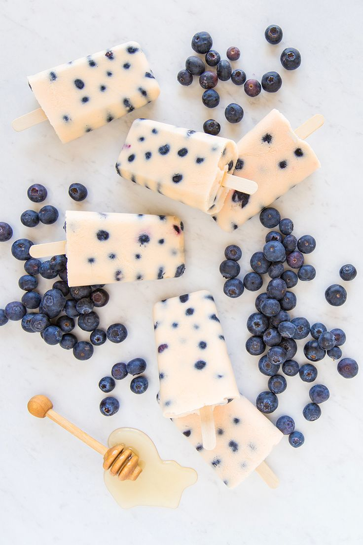 Greek yogurt is the perfect ingredient for creamy DIY Blueberry Peach Popsicles! ☀️ #Pops #Blueberry #Peach #Yogurt #Healthy #Easy