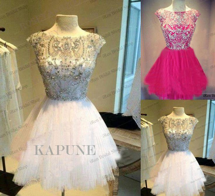 Novo Coquetel Frisada curta noite formal Vestidos De Baile Festa De Formatura ballgowns in Roupas, calçados e acessórios, Roupas femininas, Vestidos   eBay