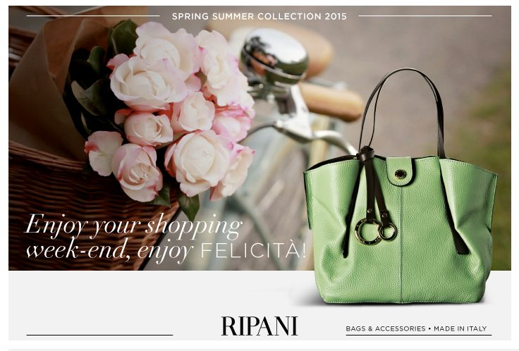 Spring Summer Collection 2015 - model FELICITÀ #feedyourstyle #trend #casual #bags #loveit