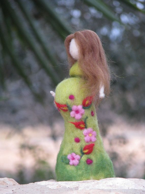 Being mother....soonneedle felted doll waldorf by Made4uByMagic