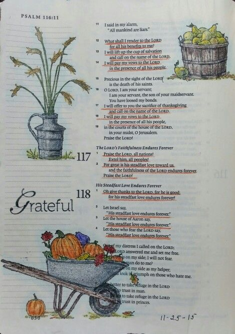 Happy Thanksgiving! Psalm 116-118 - by Paula-Kay Bourland Stamps by Stampin Up