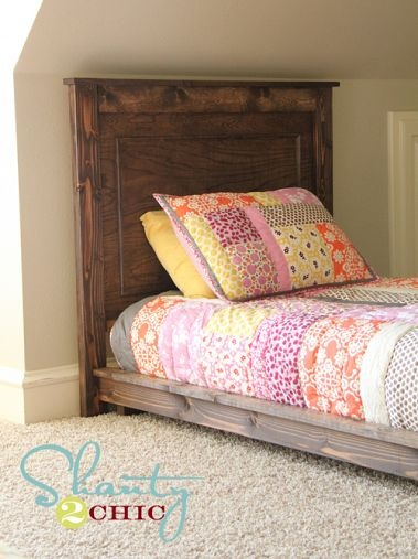 Diy 30 twin platform bed queen size ana white and look at for Platform bed twin diy