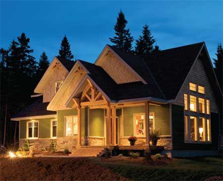 Timber Frame House Plan of Linwood Custom Homes Elevation