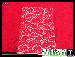 Kebaya Tile Import Jodha Warna Merah | Whatsapp/Hp : 081999114482 (XL) - Kain Endek Bali