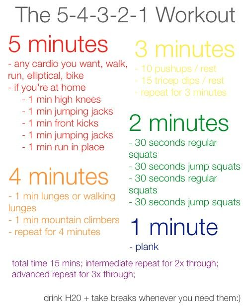 5-4-3-2-1 Workout: 15 Minute Workout, Workout At Home, Workout Exerci, 5 4 3 2 1 Workout, Work Outs, 54321 Workout, At Home Workout, Quick Workout, 54321Workout