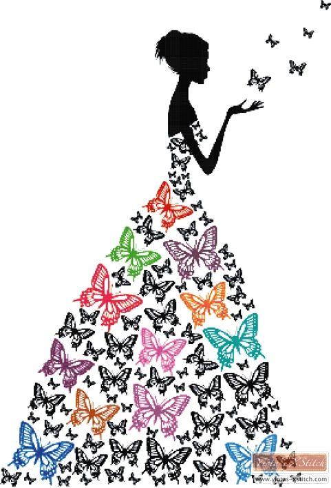 Would be fun to crochet a bunch of butterflies instead of flowers to make an irish crochet blouse.