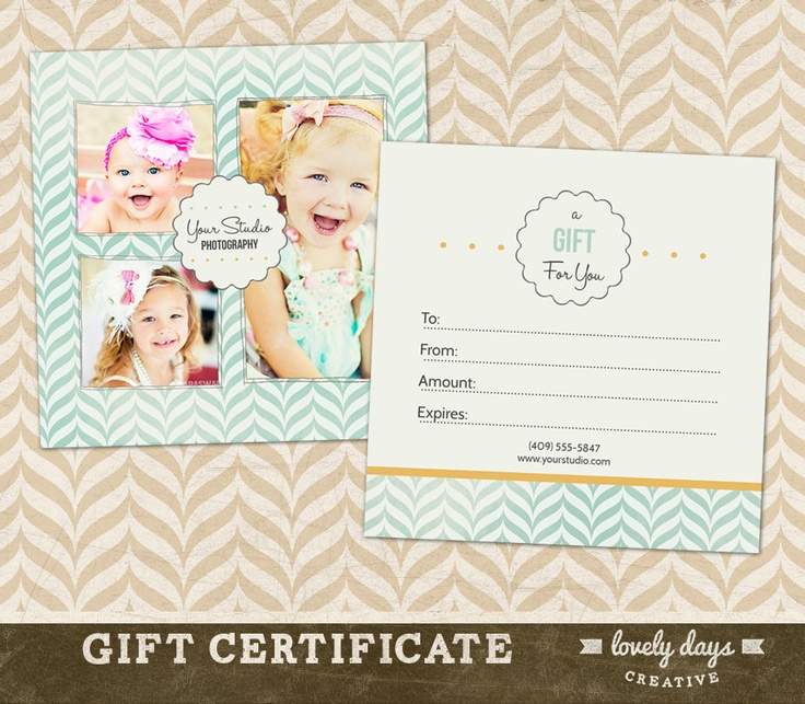 37 best gift certificate ideas images on pinterest gift free photography gift certificate template photoshop google search yadclub Gallery