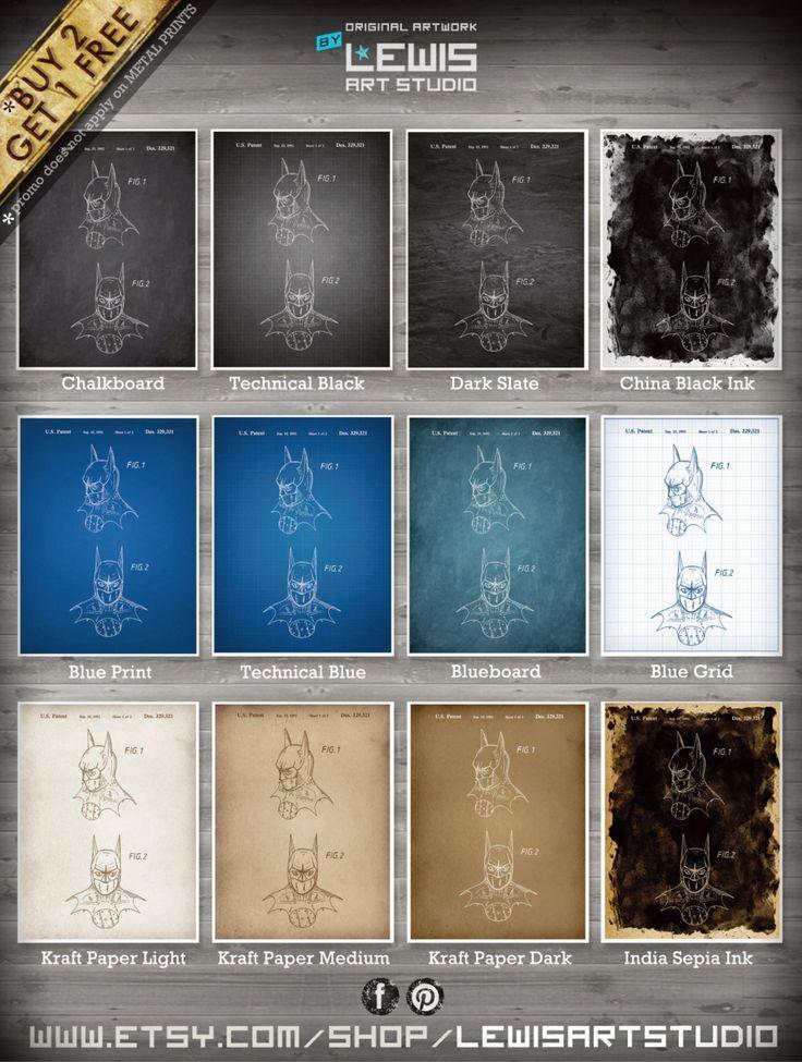 Batman Mask poster, Batman Mask patent, Batman Mask print, Batman Mask Art, Batman Mask Wall Decor no91