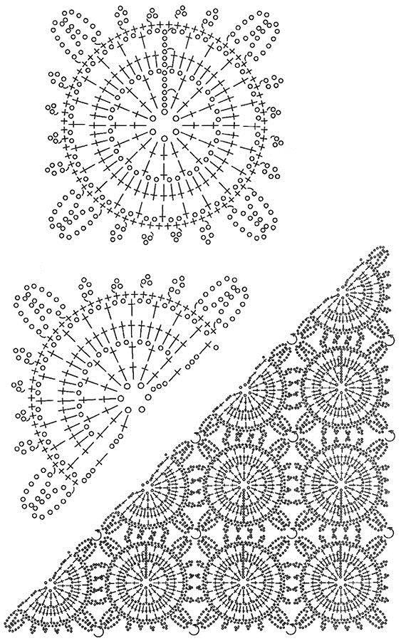 696 best CrochetShawl,Wrap images on Pinterest | Crochet