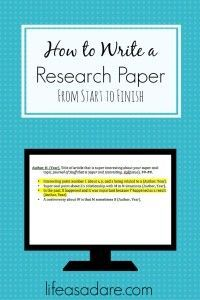 guide to writing a research paper middle school