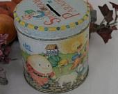 Reduced...Vintage 1960s Mother Goose Storybook Parade Bank