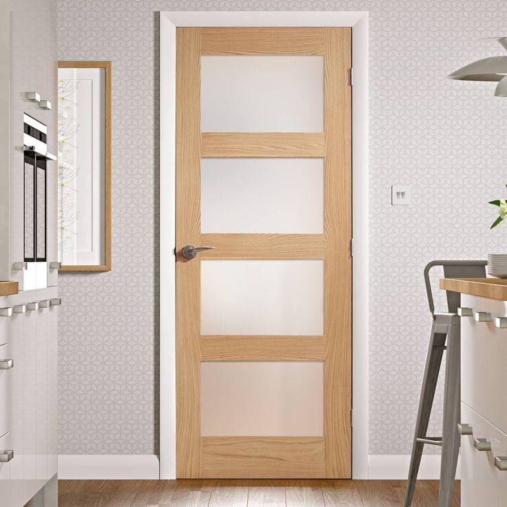 Shaker 4 pane oak 1/2 hour fire rated door - obscure fire rated obscure glass for your safety with added privacy. #glazeddoor #oakglazeddoor #internalfiredoor