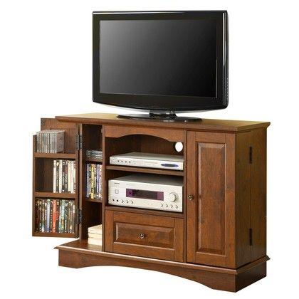 "Walker Edison 42"""" Brown Wood Highboy TV Stand"