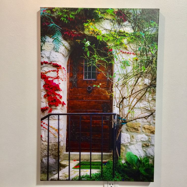 Such a beautiful door in France, it feels as if your dream world is on the other side.  This picture is printed on canvas, mirror wrapped on 3/4 thin bars. Your print price for a 20x30 inch is only $165.90  #PhotoOnCanvas #CanvasPrint #PrintOnCanvas #PictureOnCanvas #ArchivalPrints #BurnabyPhotoOnCanvas #VancouverPhotoOnCanvas #AbcFineArt https://abcfineart.com/prints