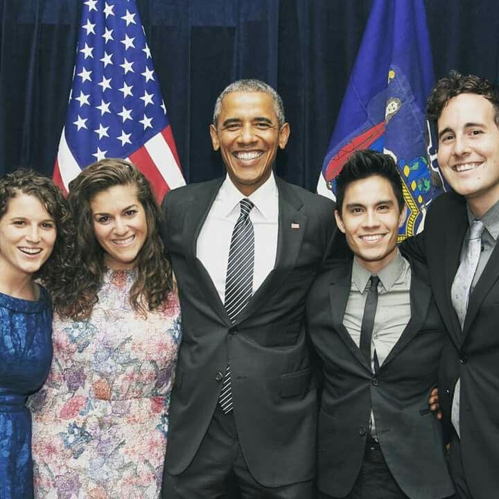 Sam Tsui, his husband Casey Breves  & Obama