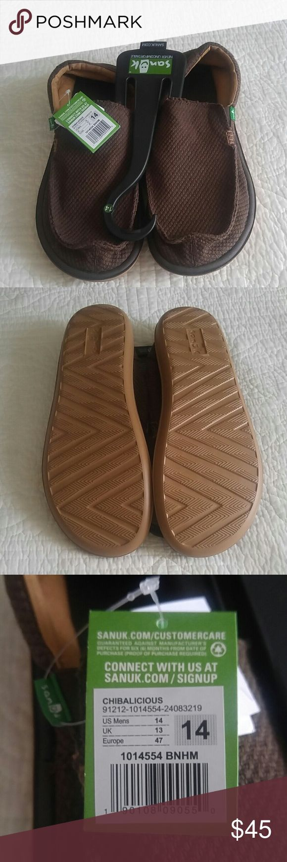 Sanuk Men's Size 14 NWT. Didn't fit and had too long to return. Sanuk Shoes Loafers & Slip-Ons