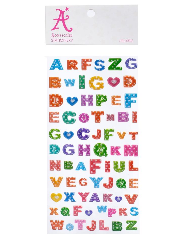 Polka Dot Glitter Alphabet Stickers   Multi   Accessorize, 2,90e