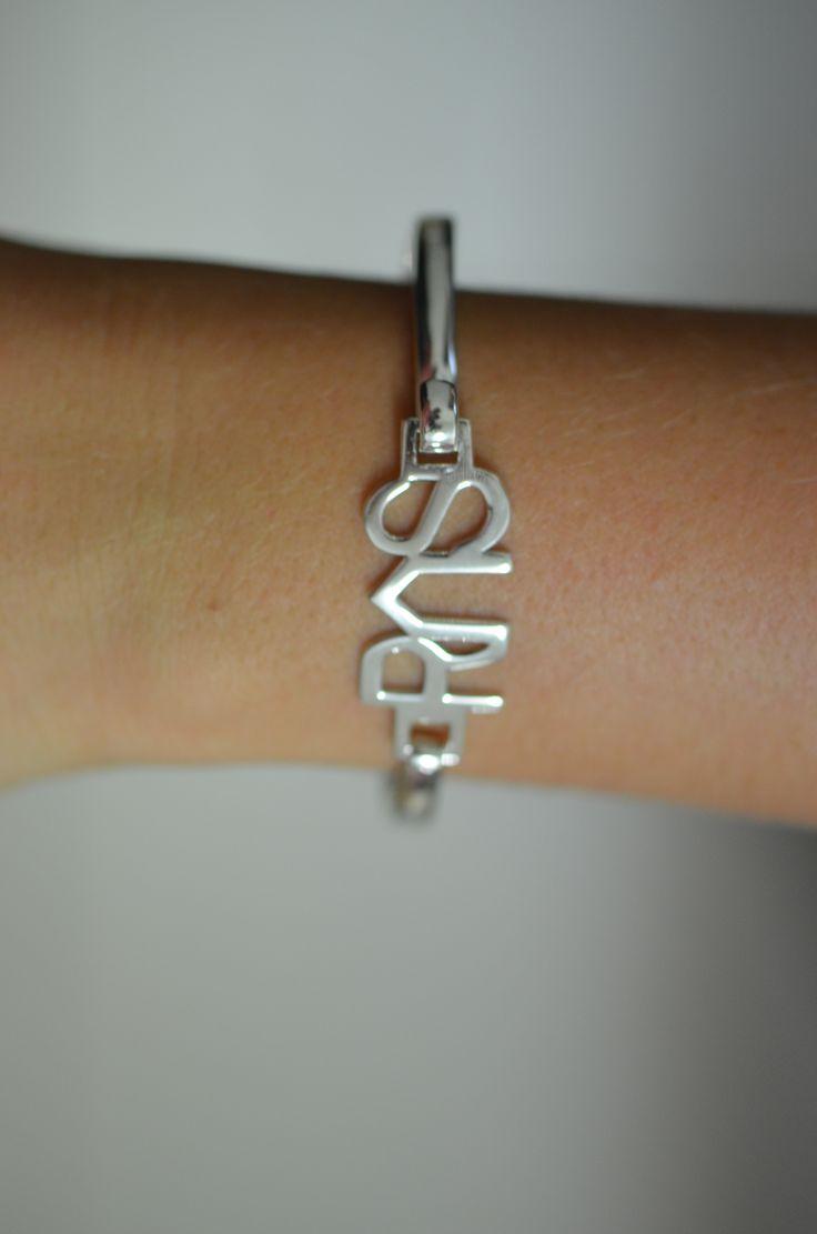 sterling silver brand bangle