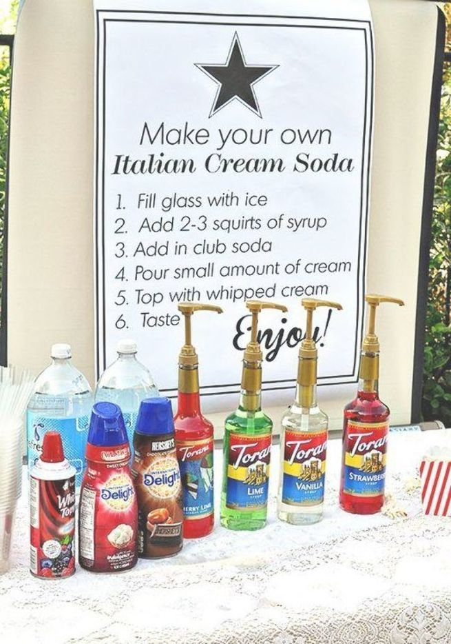 We Are Loving How Simple Easy It Is To Put Together A Sweet Italian Soda Bar For Any Party All You Need Is Bubbly Water Mineral Water Italian Cream