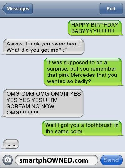 Pink Toothbrush/Mercedes - Relationships - Autocorrect Fails and Funny Text Messages - SmartphOWNED