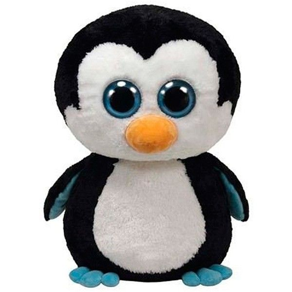 Peluche Pingüino Beanie Boos 40Cm ❤ liked on Polyvore featuring extra, other, stuffed animals, babies and kids