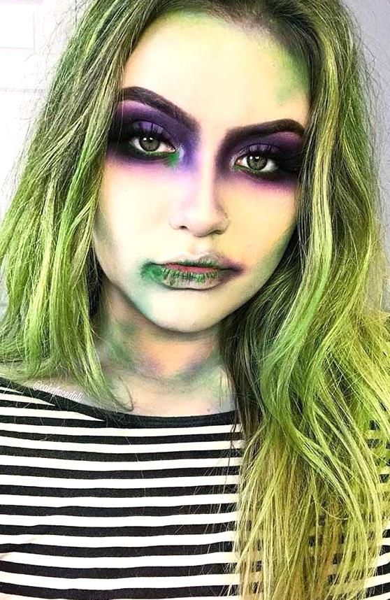 Easy Beetlejuice Makeup for Women in 2020 Beetlejuice