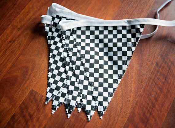 CHECKERED FLAG NASCAR Racing Pendant Flag Banner,Bunting Banner,Racing Birthday Party Decor,Cars Decor,Checkered Flag Drag Racing Banner